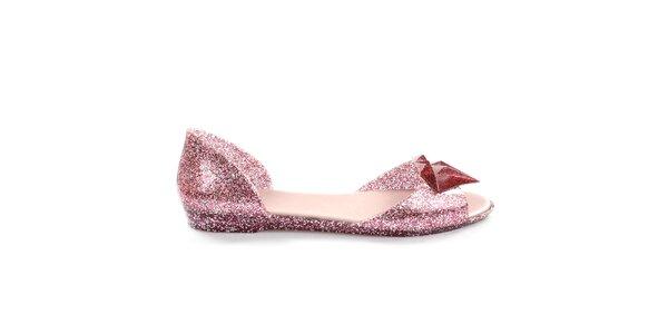 Dámske ružové trblietavé sandálky So Real