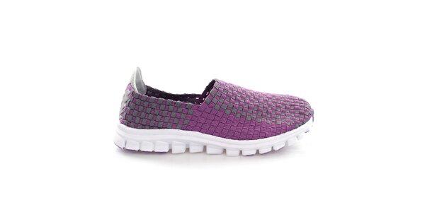 Dámske fialovo-šedé prepletané topánočky So Real