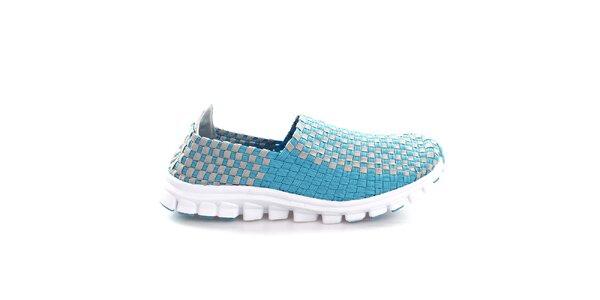 Dámske modro-šedé prepletané topánočky So Real
