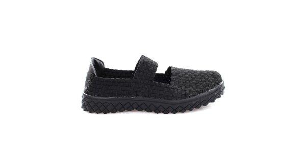 Dámske čierne pletené topánočky So Real