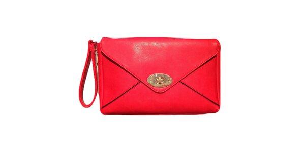 Dámska červená listová kabelka The Style London