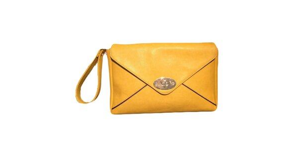 Dámska žltá listová kabelka The Style London