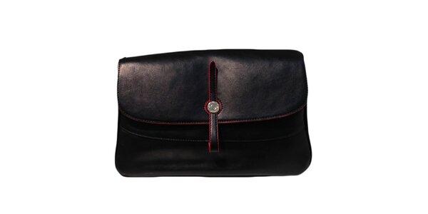 Dámska čierna kabelka s obrátenou prackou The Style London