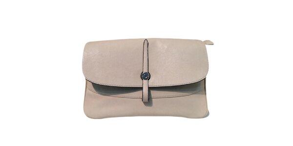 Dámska krémová kabelka s obrátenou prackou The Style London