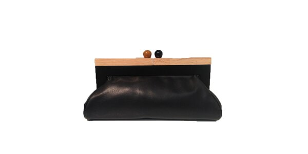 Dámska čierna kabelka s retro zapínaním The Style London