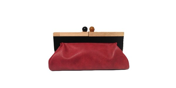 Dámska červená kabelka s retro zapínaním The Style London