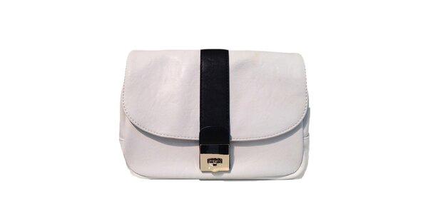 Dámska biela kabelka s čiernym pruhom The Style London