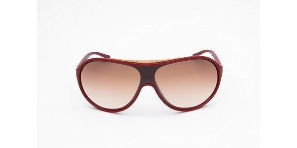 Pánske vínovo-červené slnečné okuliare Bikkembergs