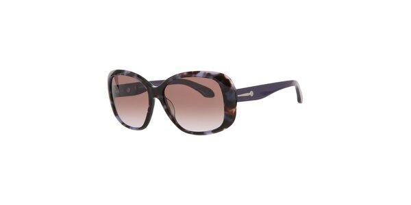 Dámske fialovo-vínové slnečné okuliare Calvin Klein s kovovými detailami