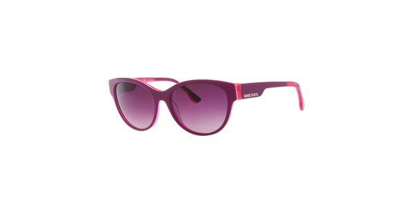 Dámske fialovo-ružové slnečné okuliare s fialovými sklami
