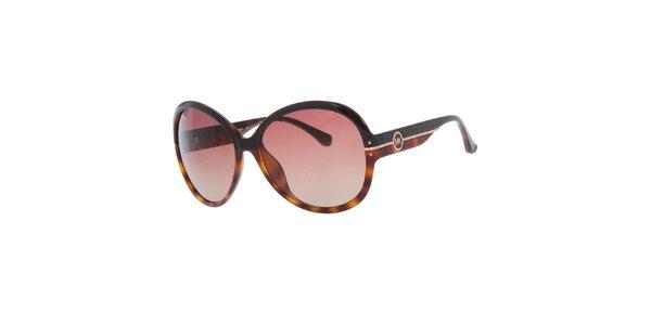 Dámske čierno-žíhané slnečné okuliare Michael Kors
