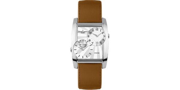 Pánske oceľové hodinky s dvojitým ciferníkom Jacques Lemans