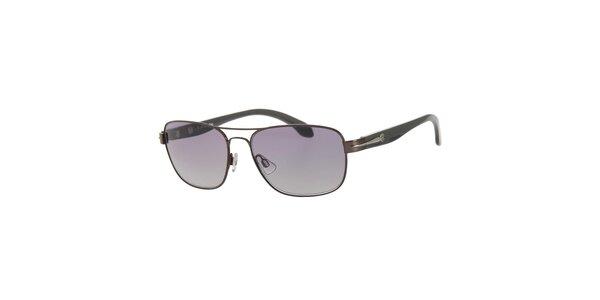 Pánske hnedo-čierne slnečné okuliare Calvin Klein