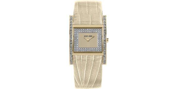 Dámske smotanové hodinky s kryštáľmi Jacques Lemans