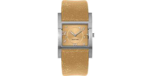 Dámske trblietavé hodinky s kryštáľmi Jacques Lemans