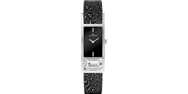 Dámske elegantné oceľové hodinky s kryštáľom Jacques Lemans