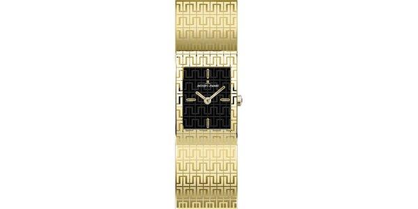 Dámske oceľové hodinky v zlatej farbe Jacques Lemans