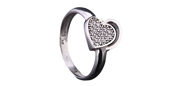 Dámsky prsteň v tvare srdca Afrodite