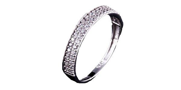 Dámsky strieborný prsteň so zirkónmi Afrodite