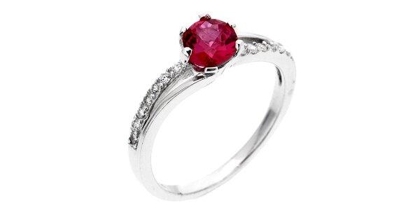 Dámsky prsteň s fuchsiovým zirkónom Afrodite