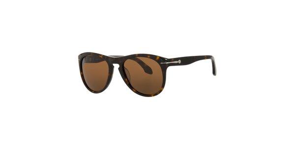 Pánske tmavo hnedé slnečné okuliare Calvin Klein v odtieni havana