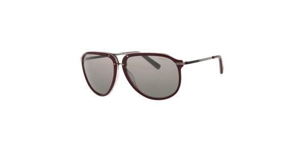 Pánske vínové slnečné okuliare Calvin Klein s polarizovanými sklami