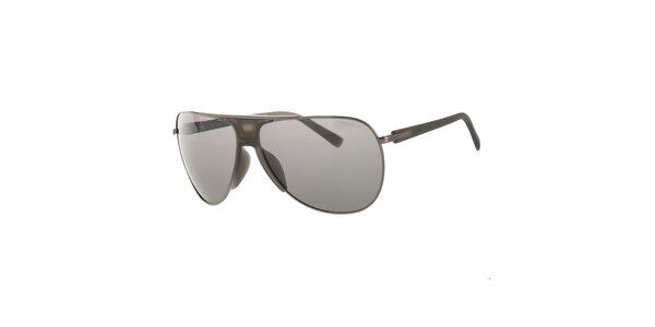 Pánske šedé slnečné okuliare Calvin Klein s polarizovanými sklami