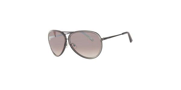 Pánske šedé slnečné okuliare Calvin Klein