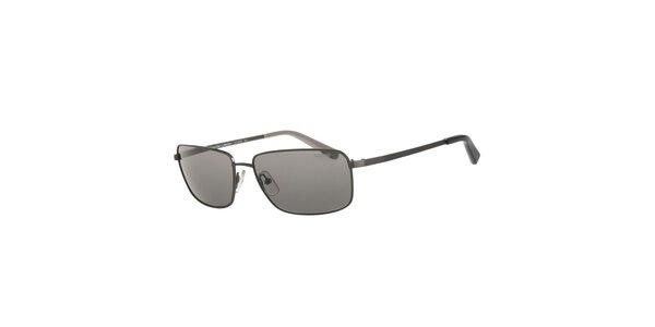 Pánske tmavo šedé slnečné okuliare Calvin Klein s polarizovanými sklami