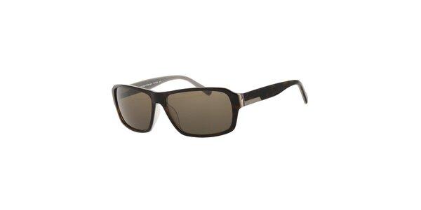 Pánske slnečné okuliare Calvin Klein v odtieni havana