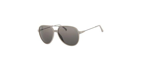 Pánske svetlo šedé slnečné okuliare Calvin Klein