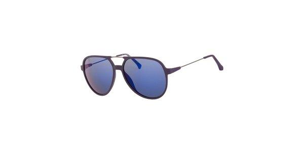 Pánske fialové slnečné okuliare Calvin Klein so zrkadlovými sklami