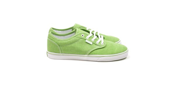 Dámske zelené textilné topánky Vans