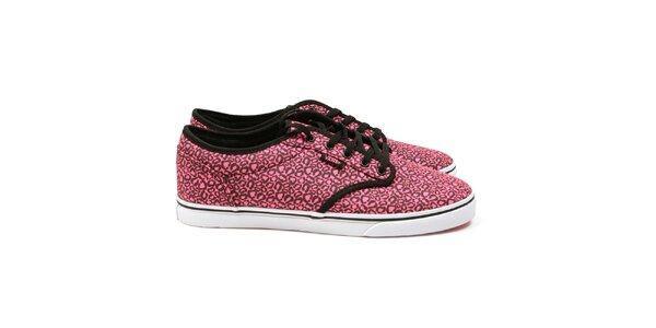 Dámske ružové vzorované tenisky Vans