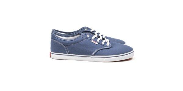 Dámske tmavo modré textilné topánky Vans
