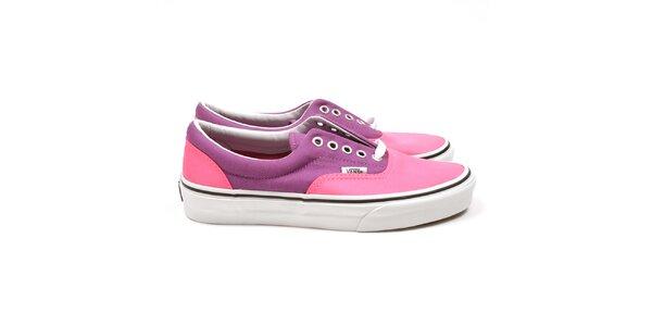 Ružovo-fialové tenisky Vans