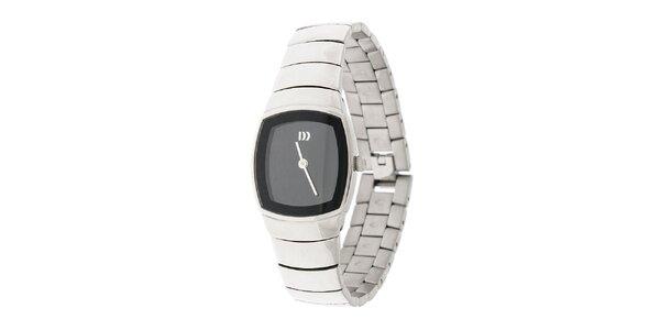 Dámske titanové hodinky Danish Design s čiernym ciferníkom
