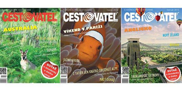Ročné digitálne predplatné časopisu Cestovateľ
