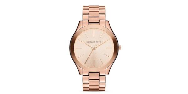 Dámske pozlátené ocelové hodinky Michael Kors