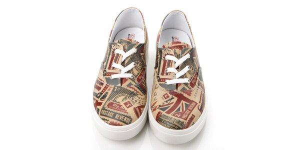 Pánske topánky s poštovnými známkami Elite Goby