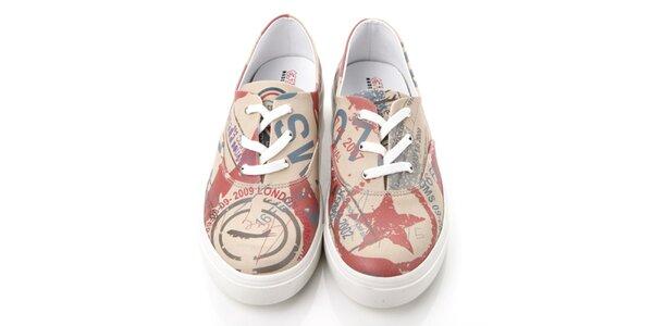 Pánske topánky s lietadlom a hviezdou Elite Goby