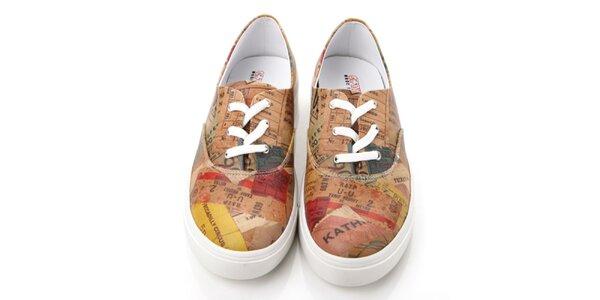 Pánske farebné topánky s potlačou Elite Goby