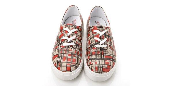 Pánske kockované topánky Elite Goby