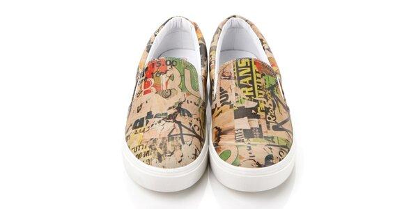 Pánske farebné loafers s potlačou Elite Goby