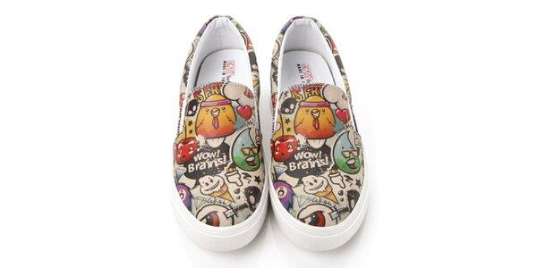 Pánske loafers s farebnou potlačou Elite Goby