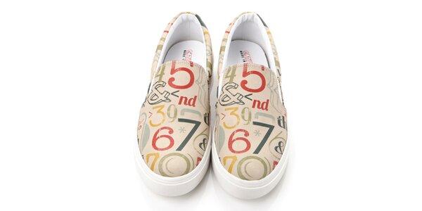 Pánske loafers s číslami Elite Goby