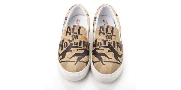 Pánske loafers s potlačou Elite Goby