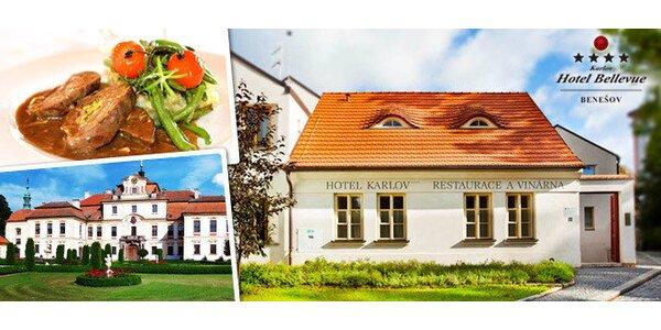Pobyt pre 2 v historickom centre Benešova