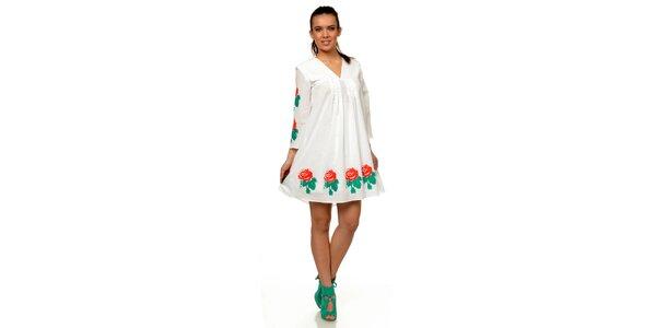 Dámske biele šaty s kvetinovou potlačou Joseph Alessander