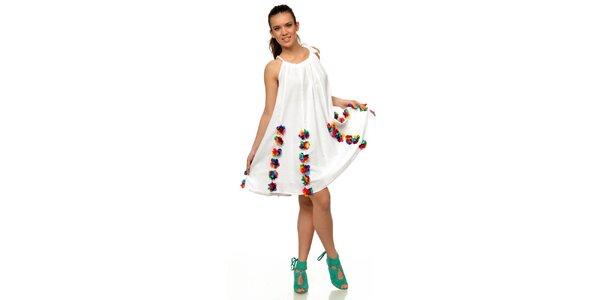 Dámske kvetinové šaty v bielej farbe Joseph Alessander